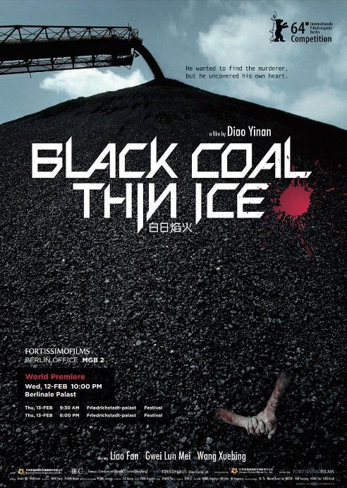 black coal thin ice poster