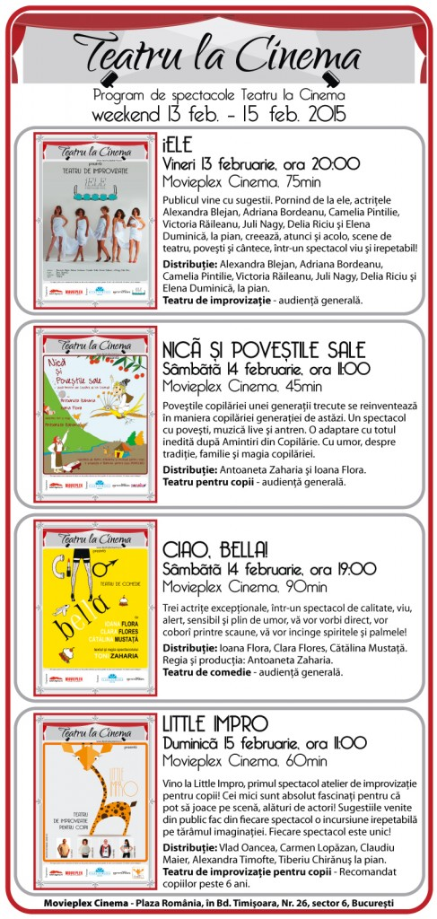 Teatru la cinema / program/ concurs